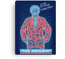 Tron Burgundy Canvas Print