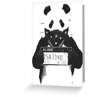 Bad Banksy Panda Greeting Card