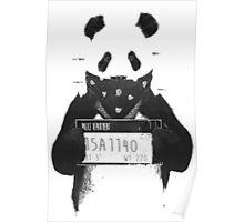 Bad Banksy Panda Poster