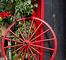 Red Wagon Wheel by Phill Danze