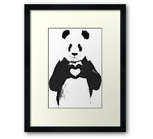 All You Need is Love Banksy Panda Framed Print