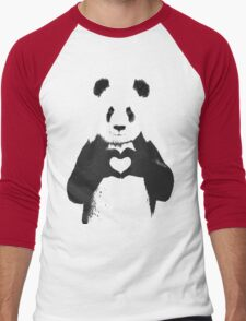 All You Need is Love Banksy Panda Men's Baseball ¾ T-Shirt