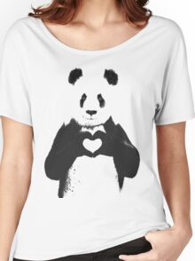 All You Need is Love Banksy Panda Women's Relaxed Fit T-Shirt