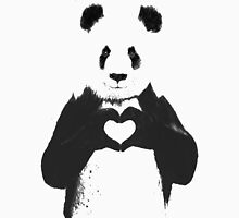 All You Need is Love Banksy Panda Unisex T-Shirt