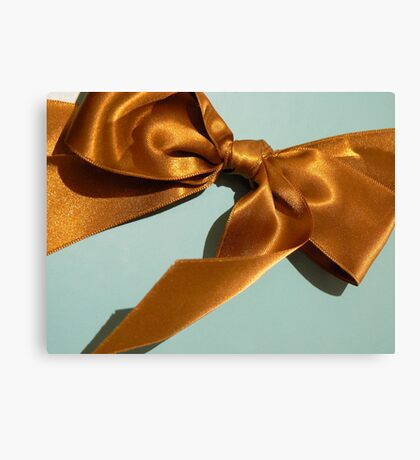 Silky Ribbon Bow Canvas Print