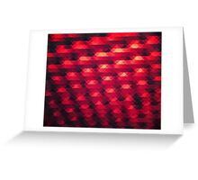 Abstract Color Pattern in Red Greeting Card