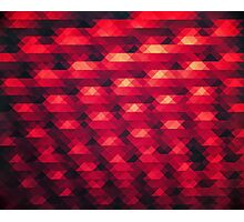 Abstract Color Pattern in Red Photographic Print