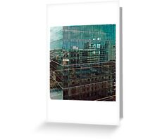 Skyscraper Reflections in Reflections Greeting Card
