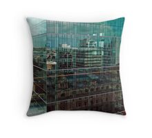 Skyscraper Reflections in Reflections Throw Pillow