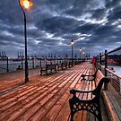 """Storm Warning""  Halfpenny pier Harwich Essex by AntonyB"