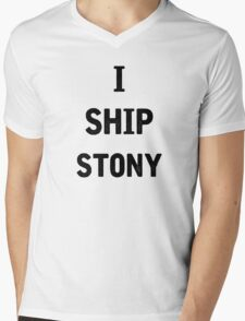 I Ship Stony Mens V-Neck T-Shirt