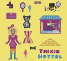 Pixel Trixie Mattel One Piece - Short Sleeve