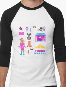 Pixel Trixie Mattel Men's Baseball ¾ T-Shirt