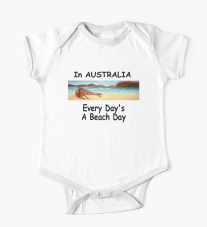 In AUSTRALIA Every Day's A Beach Day One Piece - Short Sleeve