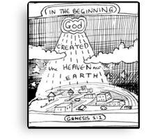 GENESIS 1:1 IN THE BEGINNING Canvas Print