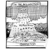 GENESIS 1:1 IN THE BEGINNING Poster