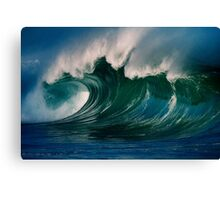 Winter Waves At Waimea Bay 2 Canvas Print