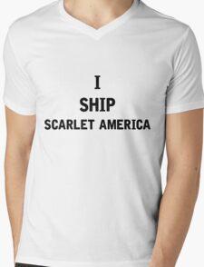 I Ship Scarlet America Mens V-Neck T-Shirt