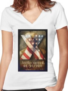 Justice Served. Women's Fitted V-Neck T-Shirt