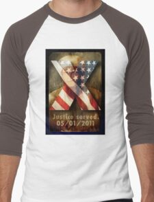 Justice Served. Men's Baseball ¾ T-Shirt