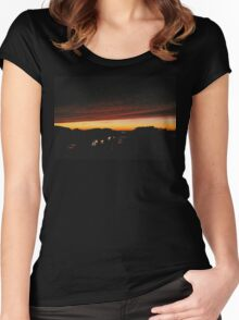 Rural Sunset Women's Fitted Scoop T-Shirt
