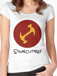 Stonecutters secret handshake shirt Women's Fitted Scoop T-Shirt