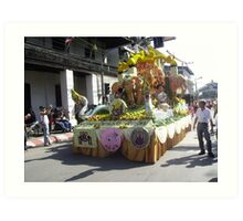 Brilliant Floral Float at Chiang Mai Festival. Art Print