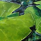 Close up lily pads by Carole Russell