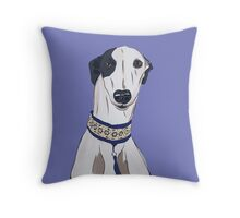 Daisy the Greyhound Portrait Throw Pillow