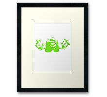 Shrek'd Out - Green Framed Print