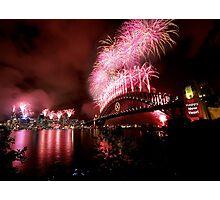Sydney New Years Eve Fireworks 2007 Photographic Print