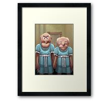 Muppet Maniac - Statler & Waldorf as the Grady Twins Framed Print