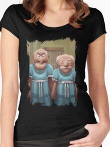Muppet Maniac - Statler & Waldorf as the Grady Twins Women's Fitted Scoop T-Shirt