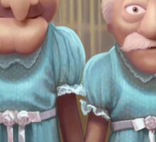 Muppet Maniac - Statler & Waldorf as the Grady Twins Sticker