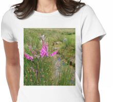 Foxgloves on the Moors Womens Fitted T-Shirt