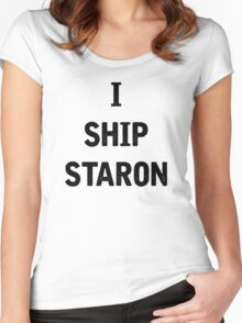 I Ship Staron Women's Fitted Scoop T-Shirt