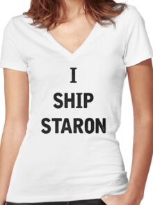 I Ship Staron Women's Fitted V-Neck T-Shirt