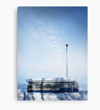 The bus is late...  Canvas Print