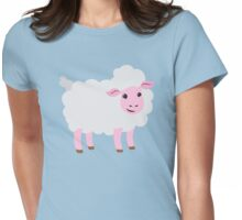 a single happy sheep Womens Fitted T-Shirt