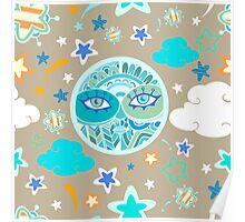- Moon pattern - Poster