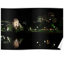 A-Bomb Dome At Night Poster