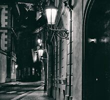 Prague evening empty street by BronwynBell