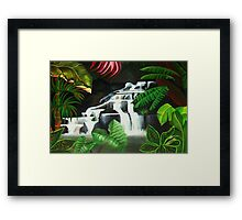 Waterfall Wilderness Framed Print