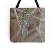 Resting Blue Emperor dragonfly Tote Bag