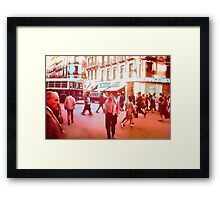 Vintage Street Crossing 1969 Framed Print