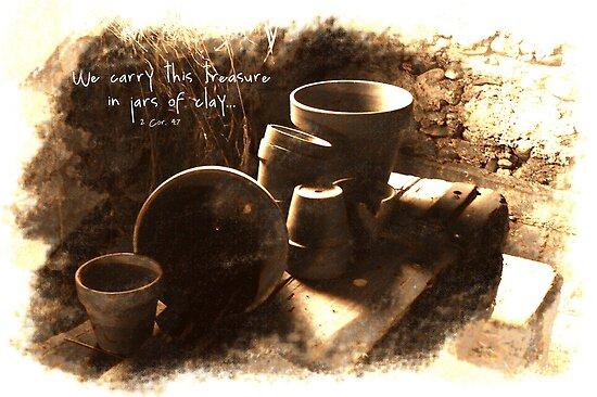 Sketches #4-- Empty Clay Pots by back40fotos