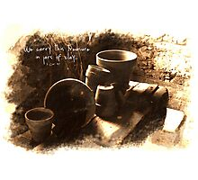 Sketches #4-- Empty Clay Pots Photographic Print