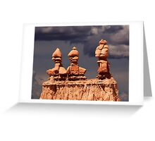 Three Sisters at sunset. Greeting Card