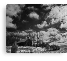Clark Schoolhouse - clearing snow storm Canvas Print
