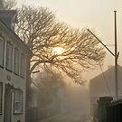 Fog in QE2 Street - Alderney by NeilAlderney